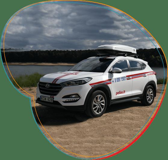 PELIAS kenkėjų kontrolės įmonės automobilis