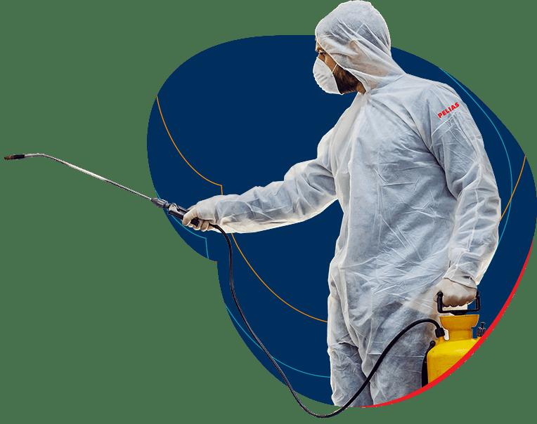 Dezinsekcijos specialistai atliekantys vabzdžių kontrolę Lietuvoje