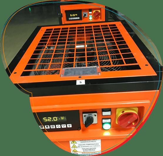 Šildytuvai terminiam apdorojimui karščiu naikinti kenkėjus